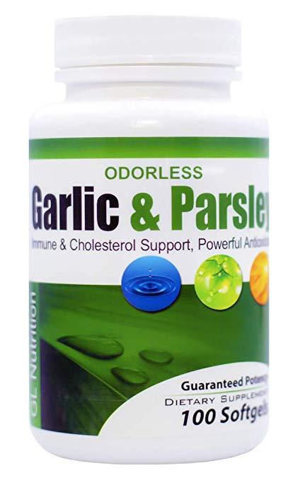 odorless garlic and parsley softgels