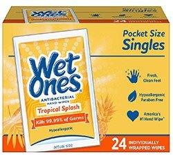 antibacterial hand and face wipes