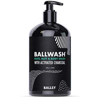 ball wash charcoal body wash for men