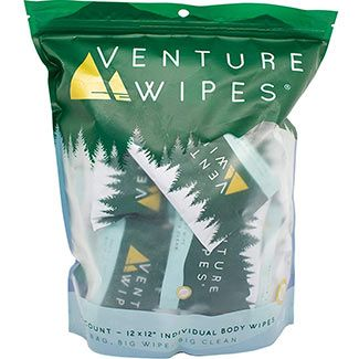 large shower wipes by venture wipes